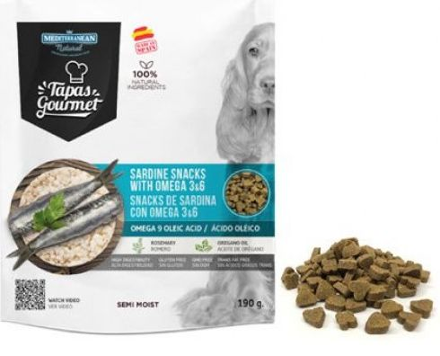 Tapas Gourmet Snack for dog Sardine with Omega 3&6 190g